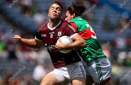Mayo vs Galway. Galway's Paul Conroy with Padraig O'Hora of Mayo