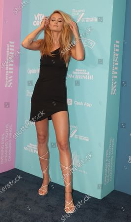 Stock Image of Kate Bock arrives at the 2021 Sports Illustrated issue release celebration at the Seminole Hard Rock Hotel in Hollywood, Florida, on Saturday, July 24, 2021.