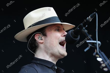 Jon Fratelli of The Fratellis perform on the main stage during day three of Tramlines Festival