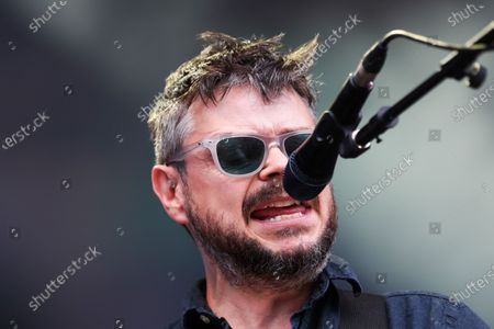 Mick Quinn of Supergrass performs on stage during day three of Tramlines Festival