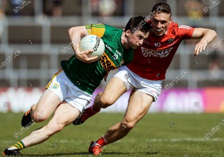 Stock Image of Kerry vs Cork. Kerry's Paul Murphy and John O'Rourke of Cork
