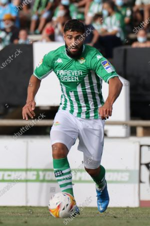 Nabil Fekir of Real Betis during the pre-season friendly match between Real Betis and Wolverhampton at La Linea Stadium in La Linea, Spain, on July 24, 2021.