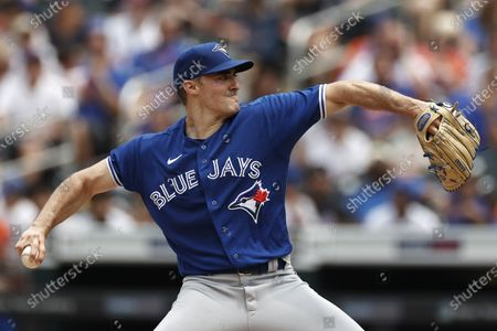 Toronto Blue Jays pitcher Ross Stripling delivers during the third inning of a baseball game against the New York Mets, in New York