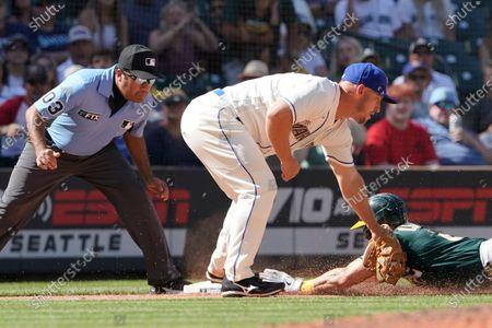 Editorial image of Athletics Mariners Baseball, Seattle, United States - 25 Jul 2021