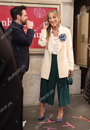 Stock Image of Mario Cantone and Sarah Jessica Parker