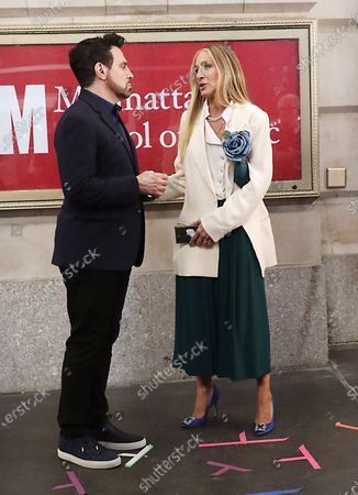 Stock Picture of Mario Cantone and Sarah Jessica Parker