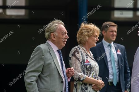 Composer Baron Sir Andrew Lloyd Webber at the Ascot QIPCO King George Diamond Weekend with his wife Lady Madeline Lloyd-Webber