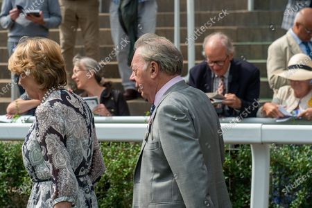 Stock Picture of Composer Baron Sir Andrew Lloyd Webber at the Ascot QIPCO King George Diamond Weekend with his wife Lady Madeleine Lloyd-Webber
