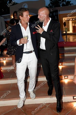 Stock Photo of Gianmarco Tognazzi with Alejandro Gravier