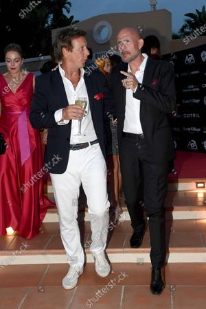 Stock Picture of Gianmarco Tognazzi with Alejandro Gravier