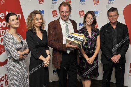 (L to R) Rosie Blau, Frances Wilson, Andrew Motion, Deborah Bull and Tom Sutcliffe