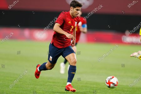 Stock Picture of Marco Asensio (ESP) - Football / Soccer : Tokyo 2020 Olympic Games Men's football 1st round group C match between Australia 0-1 Spain at the Sapporo Dome in Sapporo, Japan.