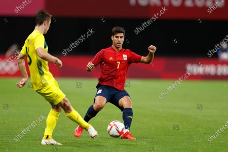 Marco Asensio (ESP) - Football / Soccer : Tokyo 2020 Olympic Games Men's football 1st round group C match between Australia 0-1 Spain at the Sapporo Dome in Sapporo, Japan.