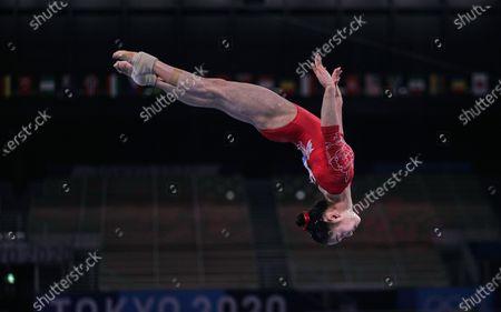 Editorial image of Gymnastics - Artistic  - Olympics: Day 2, Tokyo, USA - 25 Jul 2021