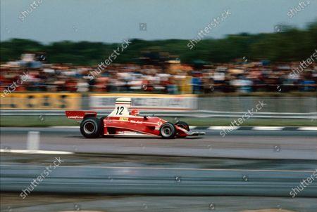 Niki Lauda. Scuderia Ferrari SpA SEFAC. Ferrari 312T. 1975 British Grand Prix.