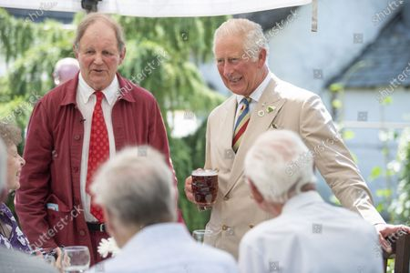 Prince Charles visits Prince Charles of York Public House in deepest Devon.They had lunch with the local reading Group and local writer Sir Michael Morpurgo