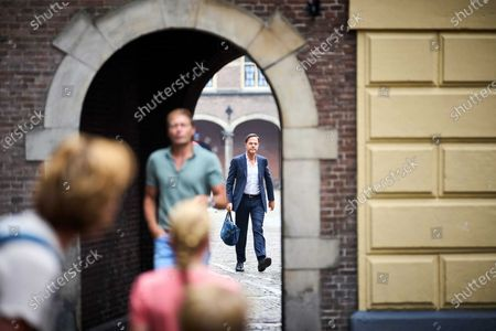 Stock Picture of Outgoing Dutch Prime Minister Mark Rutte (R, rear) arrives at the Binnenhof in The Hague, the Netherlands, 26 July 2021. During the summer holidays, the Dutch Cabinet will provide an update on the coronavirus disease (COVID-19) crisis every Monday.