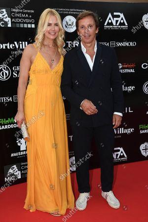Valeria Mazza with her husband Alejandro Gravier
