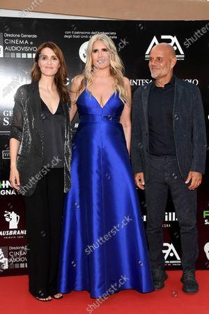 Paola Cortellesi and Riccardo Milani with Tiziana Rocca