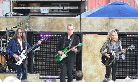 Stock Picture of Ricky Phillips, Tommy Shaw, James Young of Styx preforms