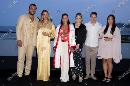 Maxime Giaccardi, Pauline Ducruet, Princess Stephanie of Monaco, Camille Marie Kelly Gottlieb, Louis Ducruet and Marie Chevallier