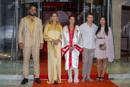Maxime Giaccardi, Pauline Ducruet, Princess Stephanie of Monaco, Louis Ducruet and Marie Chevallier