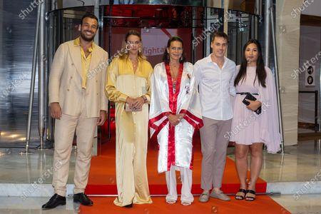Stock Picture of Maxime Giaccardi, Pauline Ducruet, Princess Stephanie of Monaco, Louis Ducruet and Marie Chevallier