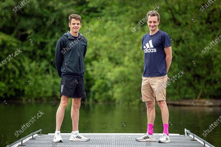 Alistair and Jonny Brownlee training at Otley Sailing club.