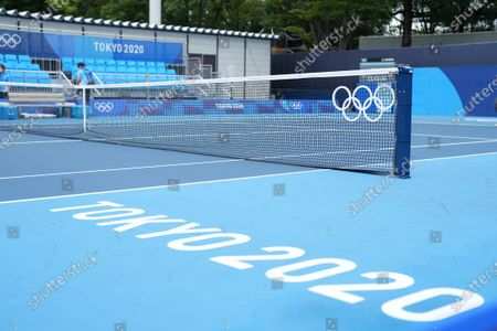 Andy Murray (GB) and Joe Salisbury (GB) versus Kevin Krawietz (Ger) & Tim Puetz (Ger) doubles match; Arlake Tennis Center, Tokyo, Japan; Olympic Tennis competition, Day 4 of Tokyo 2020 Summer Olympic Games.