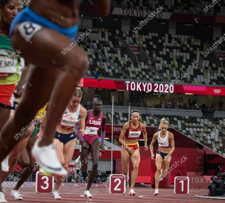 Alex Bell of GB in the 800m; Olympic Stadium, Tokyo, Japan: Tokyo 2020 Olympic summer games day 11.