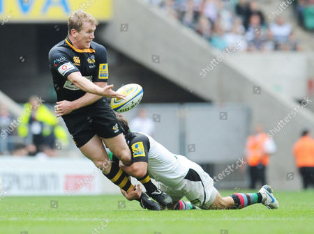 Tom Rees being tackled by Danny Care
