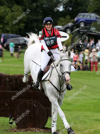 Nicola Malcolm on Mcfly at Burghley Horse Trialsm a Few Fences Later She Fell and was Injured.