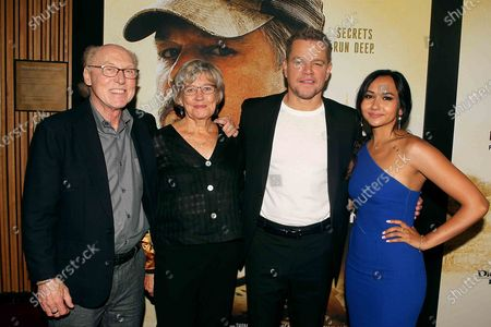 Matt Damon with his mother Nancy Carlsson-Paige and her husband Doug Kline and his daughter Alexia Barroso