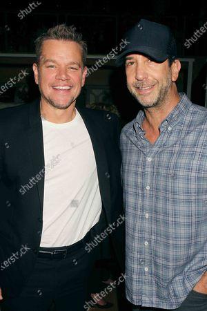 Matt Damon and David Schwimmer
