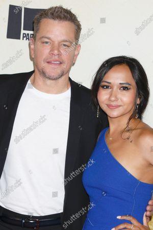 Matt Damon and his daughter Alexia Barroso