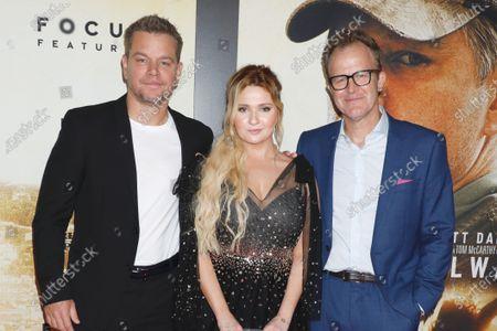 Stock Picture of Matt Damon, Abigail Breslin and Tom McCarthy