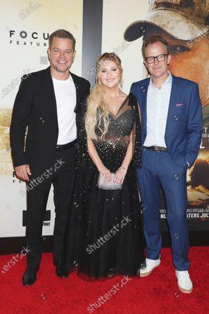 Stock Image of Matt Damon, Abigail Breslin and Tom McCarthy