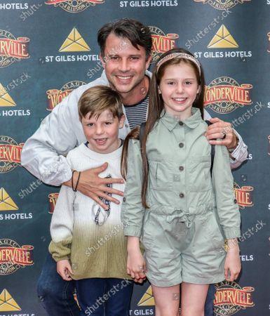 Neil McDermott and children