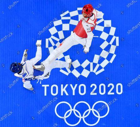 Editorial photo of Japan Tokyo Oly Taekwondo Men's 80kg+ - 27 Jul 2021