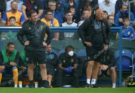 Mansfield manager Nigel Clough and assistant Andy Garner