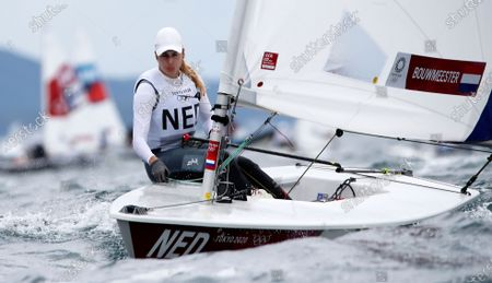 Marit Bouwmeester of Netherlands competes in the Women's Laser Radial during the Sailing events of the Tokyo 2020 Olympic Games in Enoshima, Japan, 27 July 2021.