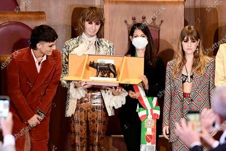 Maneskin band receive the Lupa Capitolina Award, Rome