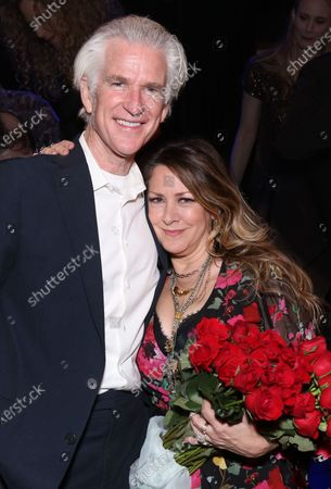 Matthew Modine and Joely Fisher attending the post show reception for Joely Fisher In Concert