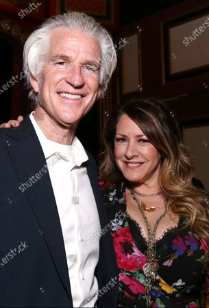 Stock Image of Matthew Modine and Joely Fisher attending the post show reception for Joely Fisher In Concert