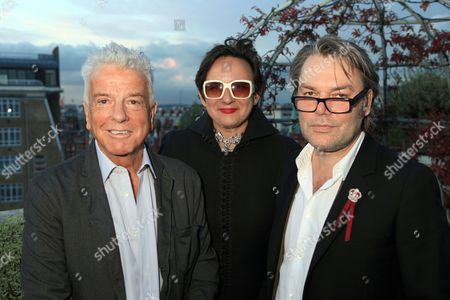 Nicky Haslam, Selina Blow and David Downton