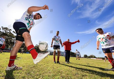 British & Irish Lions Squad Training, South Africa 27/7/2021. Jack Conan with Tadhg Beirne and Jamie George