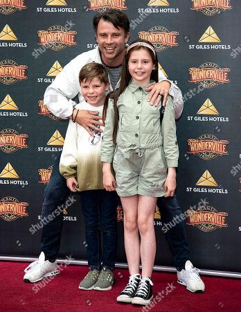 Neil McDermott with his children