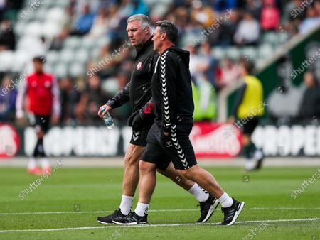 Stock Photo of Bristol City manager Nigel Pearson and Dave Rennie