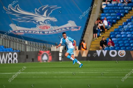 Crystal Palace defender Martin Kelly (34) during the Pre-Season Friendly match between Crystal Palace and Charlton Athletic at Selhurst Park, London