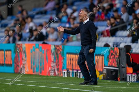 Charlton Athletic manager Nigel Adkins gestures to his players during the Pre-Season Friendly match between Crystal Palace and Charlton Athletic at Selhurst Park, London